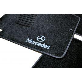 AVTM Коврики в салон текстильные Mercedes-Benz E-Class W210 '95-02 [задний привод] Черные (Комплект 5шт.)