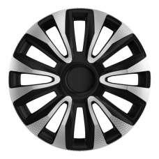 4 RACING Avalon Carbon Silver&Black R13 КОЛПАКИ ДЛЯ КОЛЕС (Комплект 4 шт.)