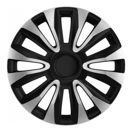 4 RACING Avalon Carbon Silver&Black R15 Колпаки для колес (Комплект 4 шт.)