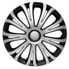 4 RACING Avera Silver&Black R13 КОЛПАКИ ДЛЯ КОЛЕС (Комплект 4 шт.)