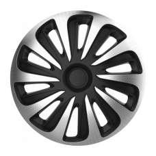 4 RACING Caliber carbon silver&black R13 КОЛПАКИ ДЛЯ КОЛЕС (Комплект 4 шт.)