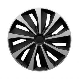 4 RACING Grip Silver&Black R13 Колпаки для колес (Комплект 4 шт.)