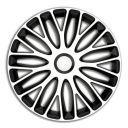 4 RACING Mugello White&Black R13 Колпаки для колес (Комплект 4 шт.)