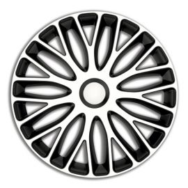 4 RACING Mugello White&Black R15 Колпаки для колес (Комплект 4 шт.)