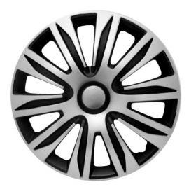 4 RACING Nardo Silver&Black R16 Колпаки для колес (Комплект 4 шт.)