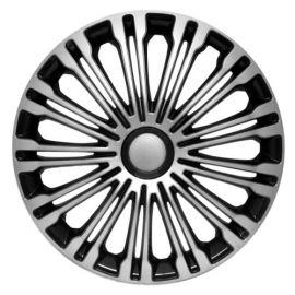 4 RACING Volante Silver&Black R13 КОЛПАКИ ДЛЯ КОЛЕС (Комплект 4 шт.)
