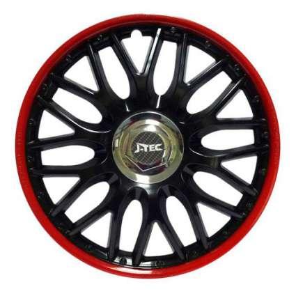 J-TEC ORDEN RED BLACK КОЛПАКИ ДЛЯ КОЛЕС (Комплект 4 шт.)