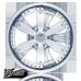 WINJET R13 КОЛПАКИ-СПИННЕРЫ ДЛЯ КОЛЕС ХРОМИРОВАННЫЕ I905 (Комплект 4 шт.)