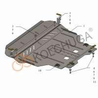 Kolchuga Защита двигателя и КПП на Chery Tiggo 2 '16-