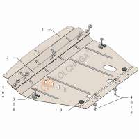 Kolchuga Защита двигателя, КПП и радиатора на Chery Tiggo 7 '16-