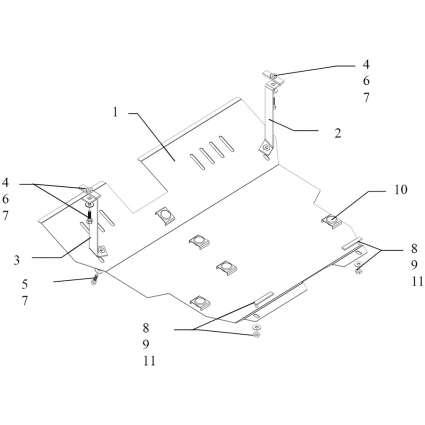 Kolchuga Защита двигателя, КПП и радиатора на Hafei Sigma '06-