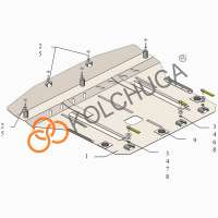 Kolchuga Защита двигателя, КПП и радиатора на Kia Rio IV '17-