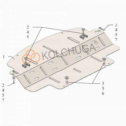 Kolchuga Защита радиатора на Mercedes-Benz R500 W251 '06-