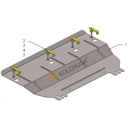 Kolchuga Защита двигателя, КПП и радиатора на Opel Crossland X '17-