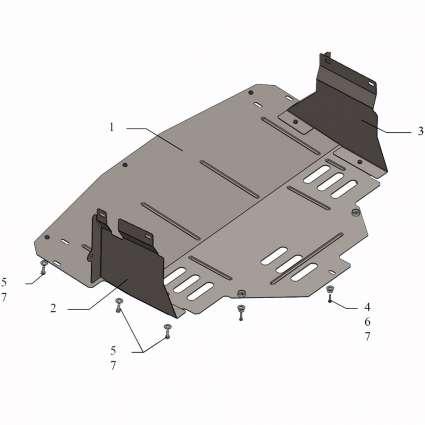 Kolchuga Защита двигателя, КПП и радиатора на Renault Master III '10-