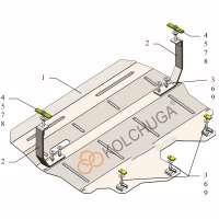 Kolchuga Защита двигателя, КПП и радиатора на Skoda Rapid '12- (кроме авто СНГ)
