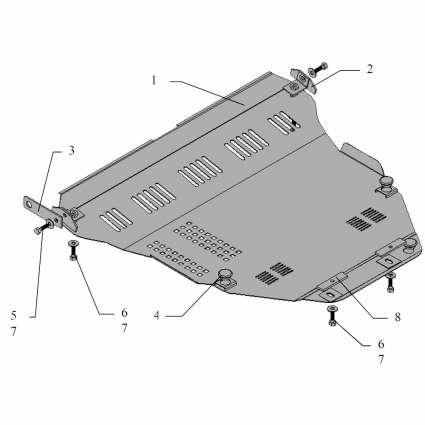 Kolchuga Защита двигателя, КПП и радиатора на Suzuki Liana '05-07
