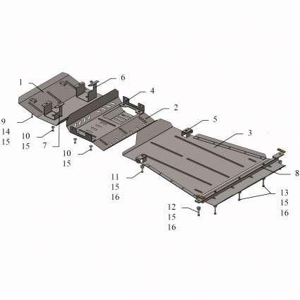 Kolchuga Защита двигателя, КПП, радиатора и рулевой тяги переднего моста на Suzuki Jimny JB '12-