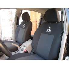 Чехлы в салон модельные для Mitsubishi L200 IV '06-15 бюджет (комплект)