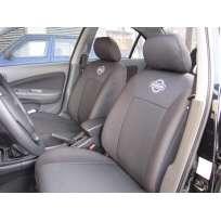 Чехлы в салон модельные для Nissan Almera Classic (B10) '06- [подголовники] премиум (комплект)