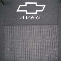 Чехлы в салон модельные для Chevrolet Aveo T200 '02-07 [hatchback/горбы] бюджет (комплект)