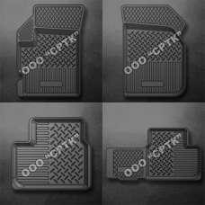 SRTK Коврики в салон глубокие Daewoo Matiz (M100/M150) '97-05 (Комплект 4шт.)