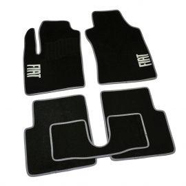 AVTM Коврики в салон текстильные Fiat 500 '07- Черные, серая окантовка (Комплект 5шт.)