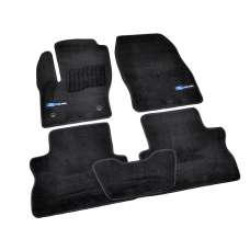 AVTM Коврики в салон текстильные Ford Kuga II '13- Черные Premium (Комплект 5шт.)