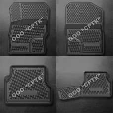 SRTK Коврики в салон глубокие Ford Focus II '04-10 (Комплект 4шт.)