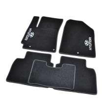 AVTM Коврики в салон текстильные Hyundai Elantra (AD) VI '15- Черные (Комплект 5шт.)