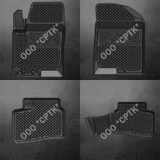 SRTK Коврики в салон глубокие Hyundai Elantra (HD) IV '06-11 (Комплект 4шт.)