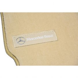 AVTM Коврики в салон текстильные Mercedes-Benz S-Class W221 '05-12 Long Бежевые Premium (Комплект 5шт.)