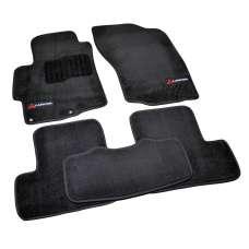 AVTM Коврики в салон текстильные Mitsubishi Lancer X '07- Черные Premium (Комплект 5шт.)