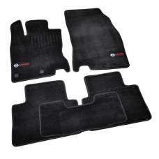 AVTM Коврики в салон текстильные Nissan Qashqai II '14- Черные Premium (Комплект 5шт.)