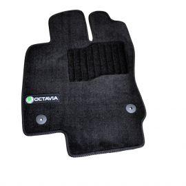 AVTM Коврики в салон текстильные Skoda Octavia (A7) III '13- Черные Premium (Комплект 5шт.)