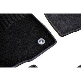 AVTM Коврики в салон текстильные Toyota Highlander III '13- Черные (Комплект 3шт.)