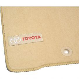 AVTM Коврики в салон текстильные Toyota Land Cruiser 200 '13- Бежевые Premium (Комплект 3шт.)
