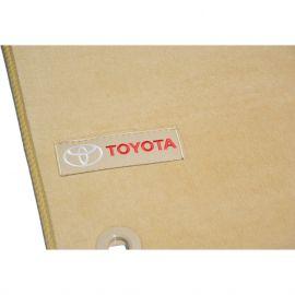 AVTM Коврики в салон текстильные Toyota Land Cruiser Prado 150 '13- Бежевые Premium (Комплект 5шт.)