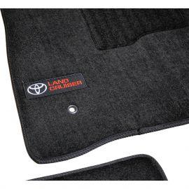 AVTM Коврики в салон текстильные Toyota Land Cruiser 200 '07- Черные Premium (Комплект 3шт.)