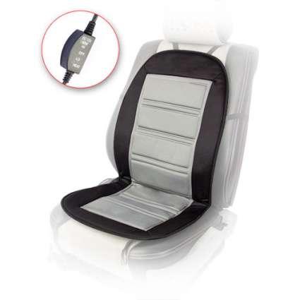 Vitol H 96024 BK Накидка на сиденье с подогревом черно-серый (98*50)