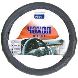 Vitol Оплетка (чехол) на руль кожзам CU 1104006