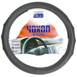 Vitol Оплетка (чехол) на руль кожзам PU 1104009
