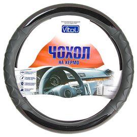 Vitol Оплетка (чехол) на руль кожзам PU 1108002