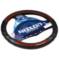 Vitol Оплетка на руль (каркасная) HU 100107, размер XXL, Черный кожзам с вставкой под красное дерево
