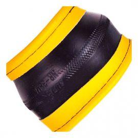 Vitol Оплетка на руль (каркасная) 09NR601 B, размер M, прессованная кожа Черный/Желтый