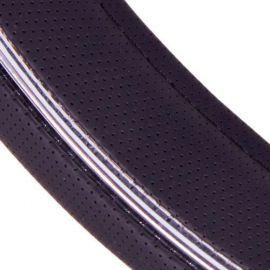 Vitol Оплетка на руль (каркасная) JU 080204BK, размер S, кожзам Черный