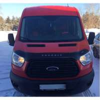"VipTuning Ford Transit VII '14- (вариант B) Дефлектор капота ""мухобойка"""