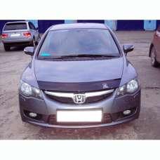 """VipTuning Honda Civic VIII '06-11 седан  Дефлектор капота """"мухобойка"""""""