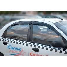 COBRA TUNING Дефлекторы окон на Chevrolet Lanos, Daewoo Lanos, ZAZ Sens (накладные)