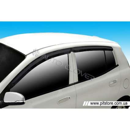 Auto Clover Дефлекторы окон на KIA PICANTO I '04-11 (накладные)